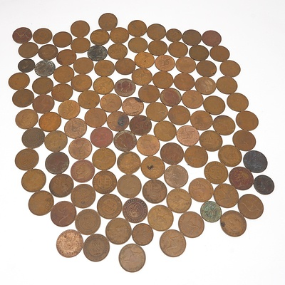 Group of Australian Pennies