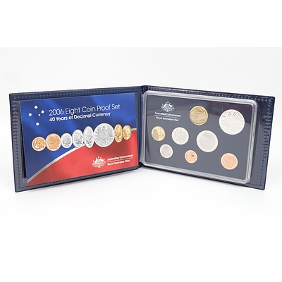 2006 40 Years of Decimal Currency Eight Coin Proof Set