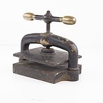Antique Cast Iron Book Press