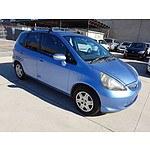 10/2006 Honda Jazz VTi MY06 5d Hatchback Blue 1.5L