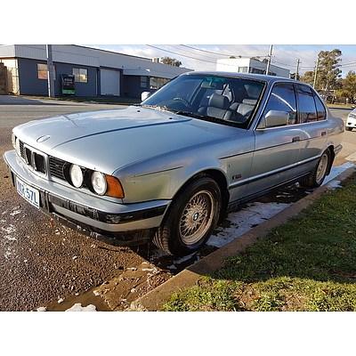 6/1992 BMW 525i  4d Sedan Blue 2.5L