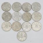Thirteen Australian 1966 Silver Fifty Cent Coins