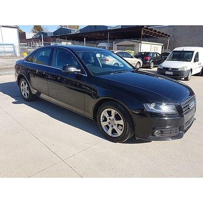 4/2010 Audi A4 1.8 TFSI B8 (8K) 4d Sedan Black 1.8L