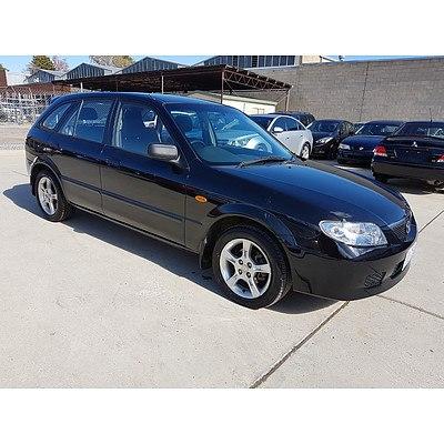 10/2003 Mazda 323 Astina Shades BJ 5d Hatchback Black 1.8L