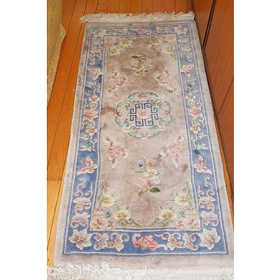 Chinese Sculpted Wool Pile Rug