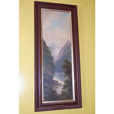 A Arnold Dusky Sound New Zealand, Oil on Artist Board