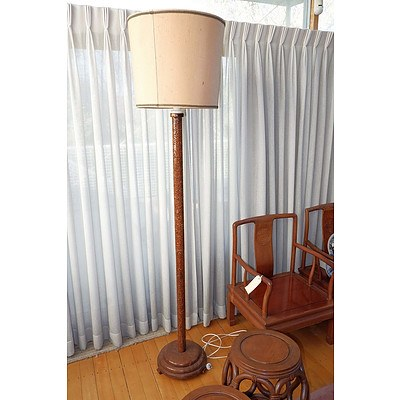 Carved Chinese Standard Lamp
