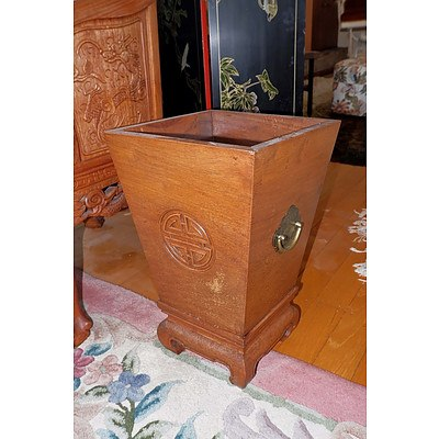 Chinese Rosewood Planter or Cellarette