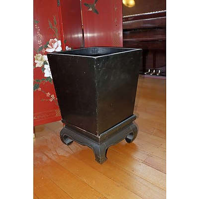 Chinese Black Lacquer Planter