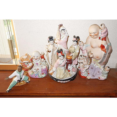 Four Chinese Porcelain Figures, 20th Century