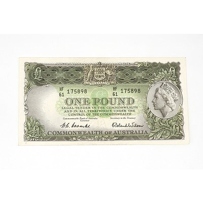 1953 Coombs / Wilson One Pound Note, HF61175898