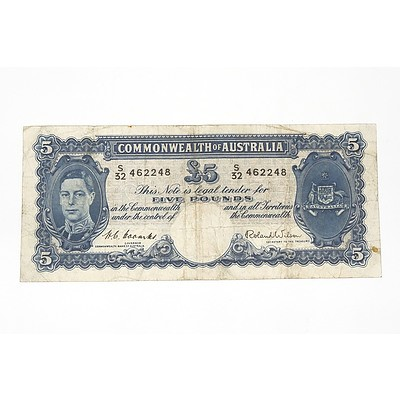 1952 Coombs / Wilson Five Pound Note, S32462248