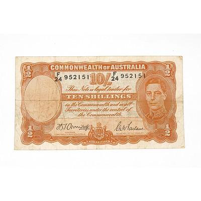 1942 Armitage / McFarlane 10 Shilling Note, F24952151