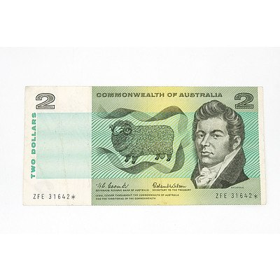 Scarce Commonwealth of Australia $2 Star Note, Coombs / Wilson ZFE31642*