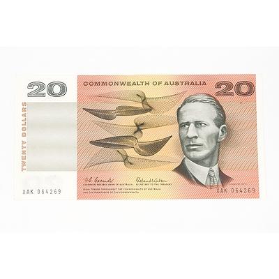1966 Commonwealth of Australia Coombs / Wilson Twenty Dollar Note, XAK064269