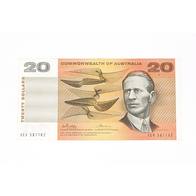 1972 Commonwealth of Australia Phillips / Wheeler Twenty Dollar Note, XEV587182