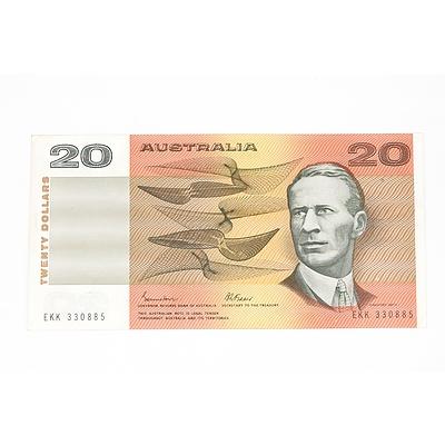 1985 Johnston / Fraser Twenty Dollar Note, EKK330885