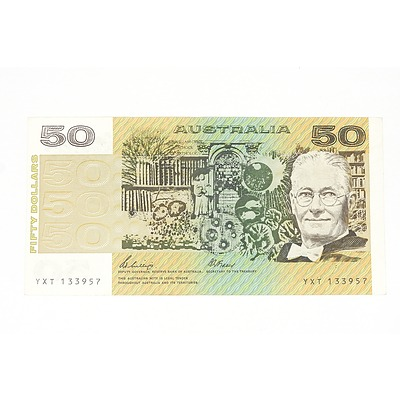 1989 Phillips / Fraser Fifty Dollar Note, YXT133957