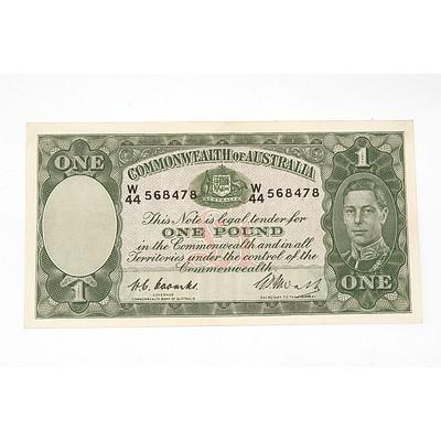 1949 Coombs / Watt One Pound Note, W44568478
