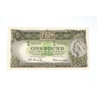 1953 Coombs / Wilson One Pound Note, HB19322110