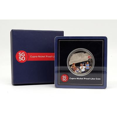 Singapore Mint 2015 $2 SG50 Cupro-Nickel Proof Like Coin Celebrating Building Our Nation Together