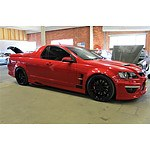 8/2010 Holden Commodore Maloo Replica Modified MY10 Utility Red 6.2L