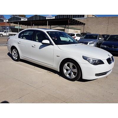 12/2009 BMW 520d E60 MY09 4d Sedan White 2.0L