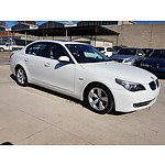 12/2009 BMW 520d E60 MY09 4d Sedan White 2.0L