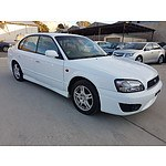 1/2002 Subaru Liberty Heritage (awd) MY02 4d Sedan White 2.5L