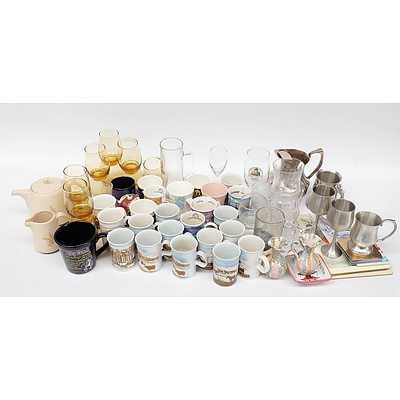 Selection of Kitchenwares including: 14 Dunoon Pottery Mugs and More