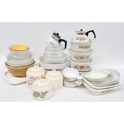 Collection of Cookware, Including Corningware, Pyrex and More