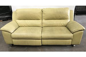 Leather Two Seater Electric Reclining Lounge