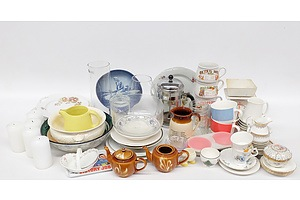Quantity of Small Kitchenware including: Royal Copenhagen Display Plate, Wedgwood, Royal Albert and More