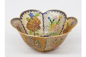 Chinese Plique a Jour Enamel Bowl