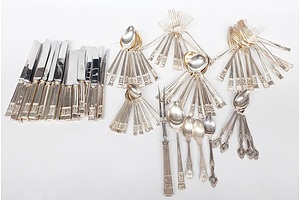 Robert F Mosley Rusnorstain Sheffield Silver Plated Flatware, Including Kings Pattern and Other Assorted Flatware