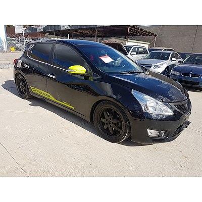 7/2013 Nissan Pulsar SSS C12 5d Hatchback Black 1.6L