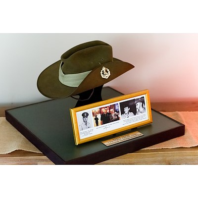 Ceremonial Slouch Hat - Worn By Victoria Cross Medal Recipient Keith Payne VC.AM.KSJ