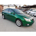 4/2011 Holden Cruze CDX JH 4d Sedan Green 1.8L