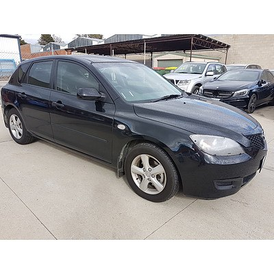 12/2008 Mazda Mazda3 MAXX BK MY06 UPGRADE 5d Hatchback Black 2.0L