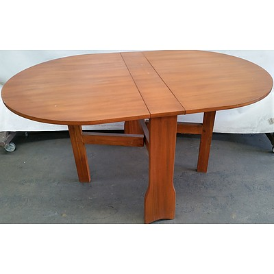Maple Oval Drop Sided Dining Table