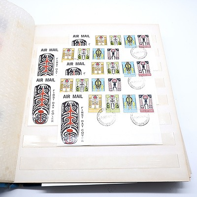 Large Collection of Pre Independence New Guinea First Day Covers in Folder