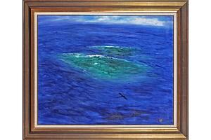 Hugh Sawrey (1919-1999) Pacific Reef, Oil on Canvas