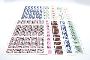 Large Collection of New Guinea Stamp Blocks