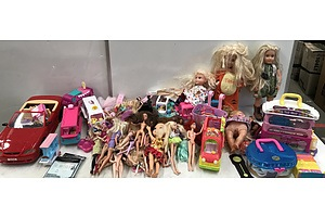 Large Collection of Barbies and Other Childrens Toys