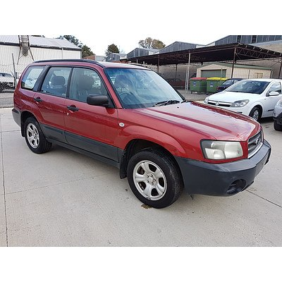 12/2004 Subaru Forester X MY05 4d Wagon Red 2.5L