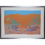 Clifton Pugh (1924-1990) Red Sand Dune 1988, Screenprint Edition 9/80