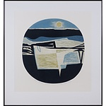 Brian Morton Hatch (1934-) Night Passage, Woodcut Edition 7/8 AP