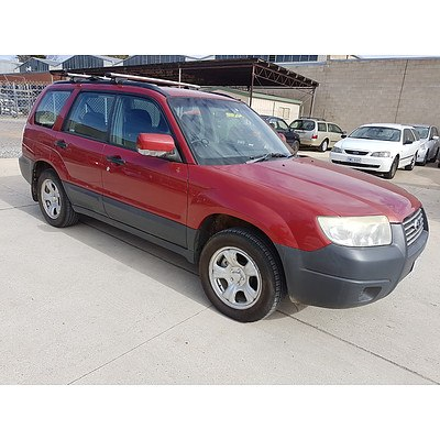 6/2006 Subaru Forester X MY06 4d Wagon Red 2.5L