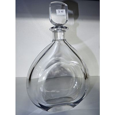 Signed Orrefors Cut Crystal Decanter