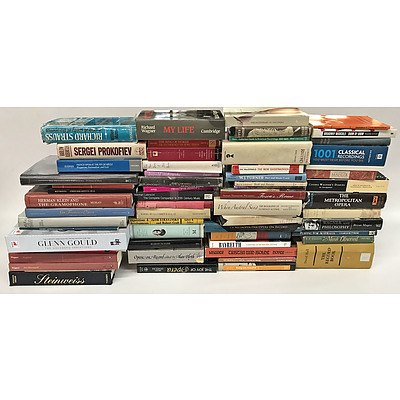 Assorted Music Related Books 55+